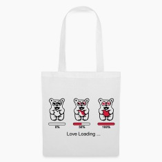 bear in love- silhouette - Love loading Bags & Backpacks