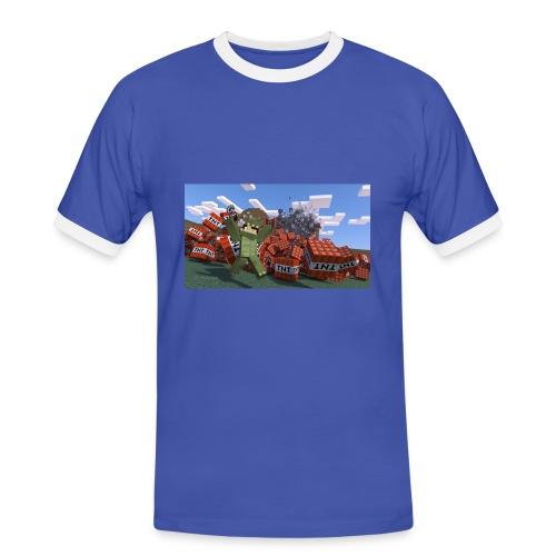 dinoshirt männer - Männer Kontrast-T-Shirt