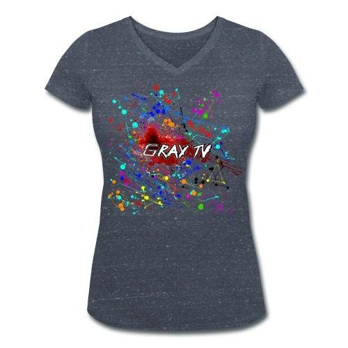 Splash Dark für sexy Barbarinnen - Frauen Bio-T-Shirt mit V-Ausschnitt von Stanley & Stella