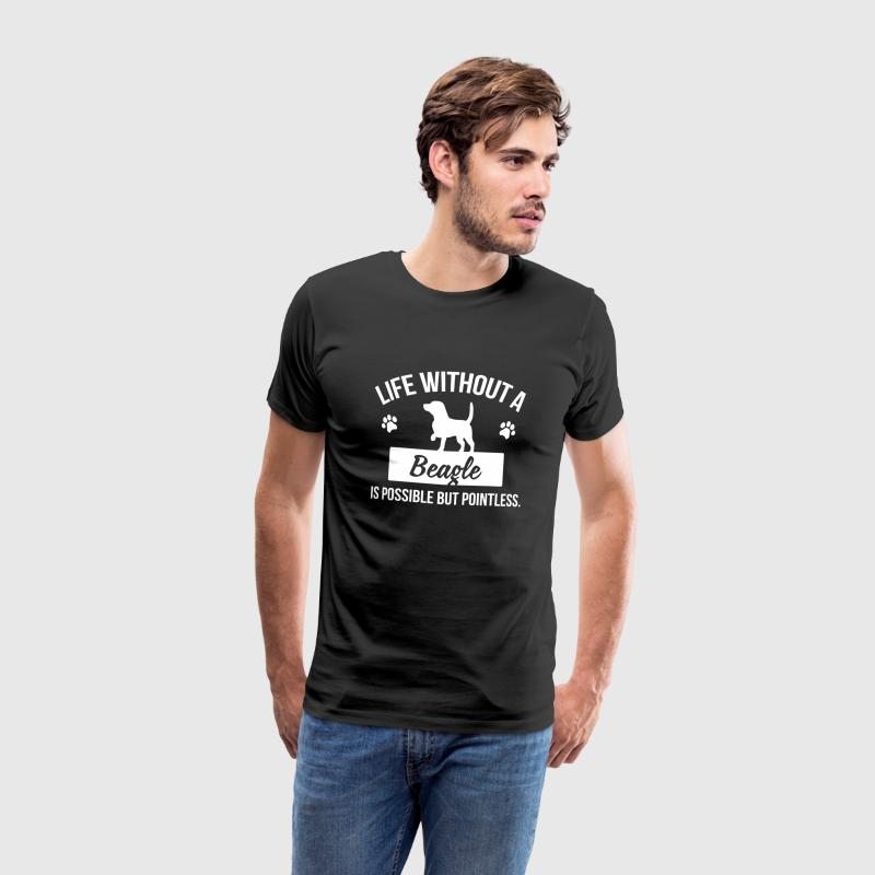 Dog shirt: Life without a Beagle is pointless Koszulki - Koszulka męska Premium