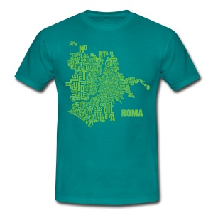 Rome Shirt Petrol - Male - Männer T-Shirt