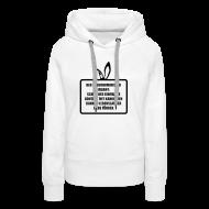 Pullover & Hoodies ~ Frauen Premium Kapuzenpullover ~ Langohrminister