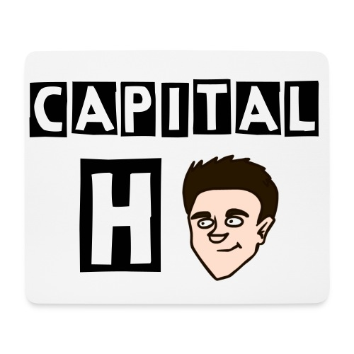 CapitalH Animated Face & Text Mouse Mat! - Mouse Pad (horizontal)