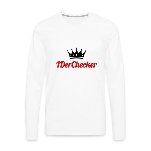 IDerChecker LangarmShirt - Männer Premium Langarmshirt