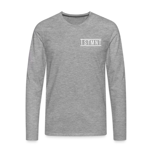 TSTMNT Men's Premium Sweater (White Logo) - Men's Premium Longsleeve Shirt