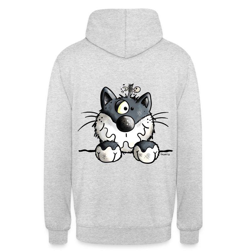 Felpa con cappuccio con nero gatto spreadshirt for Felpa con marsupio porta gatto