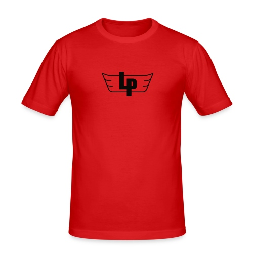 'LP' T-shirt / Red - Men's Slim Fit T-Shirt