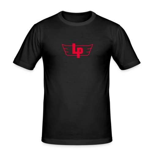'LP' T-shirt / Black - Men's Slim Fit T-Shirt