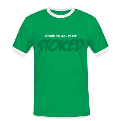 Stoked - Männer Kontrast-T-Shirt