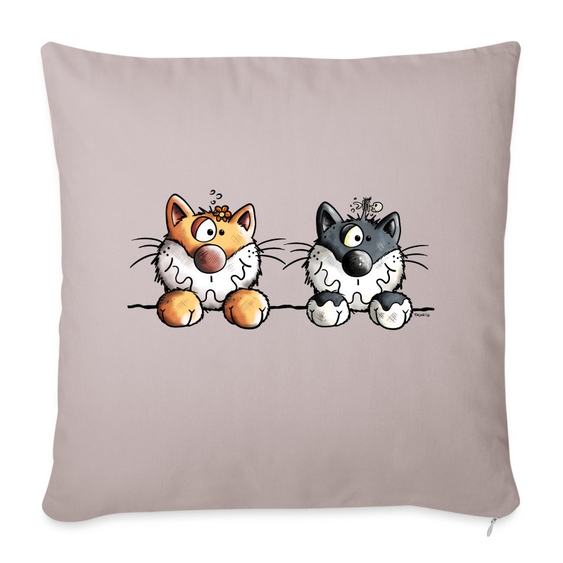 Copricuscino per divano con due divertenti gatti spreadshirt - Copricuscino per divano ...