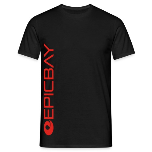 RED & BLACK LOGO TEE - Men's T-Shirt