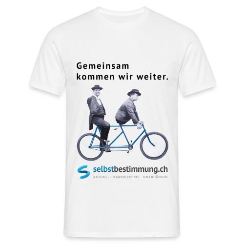 Gemeinsam kommen wir weiter. - Männer T-Shirt