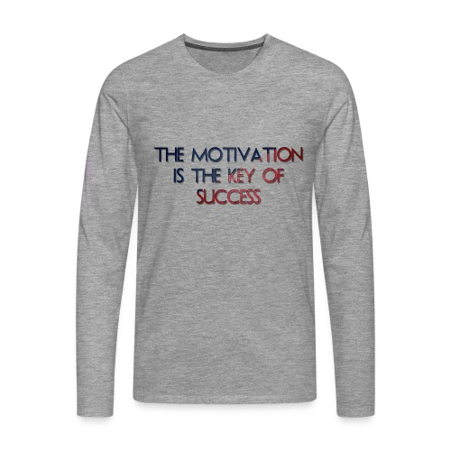 The Motivation Is The Key Of Success - T-shirt manches longues Premium Homme