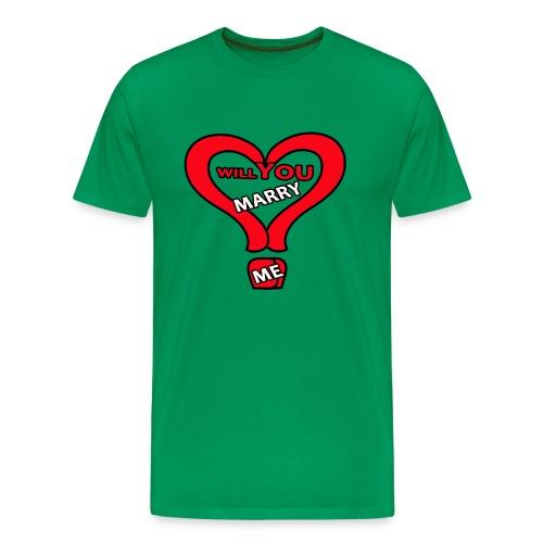Will you marry me - Men's Premium T-Shirt