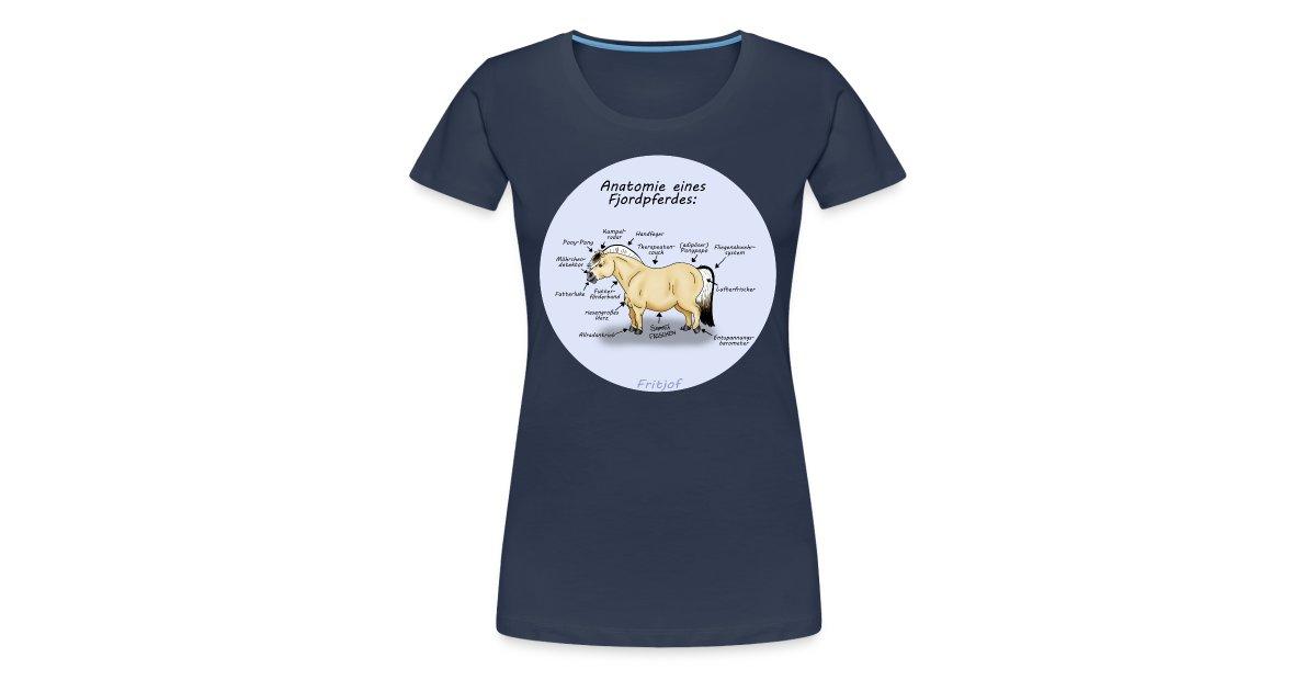 FRITJOF | Anatomie eines Fjordpferdes T-Shirts - Frauen Premium T-Shirt