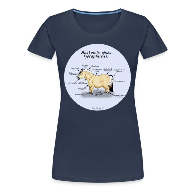 FRITJOF   Anatomie eines Fjordpferdes T-Shirts - Frauen Premium T-Shirt