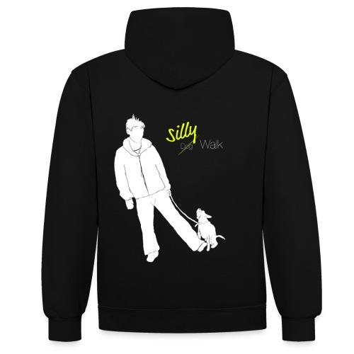 Silly Dogwalk - Kontrast-Hoodie