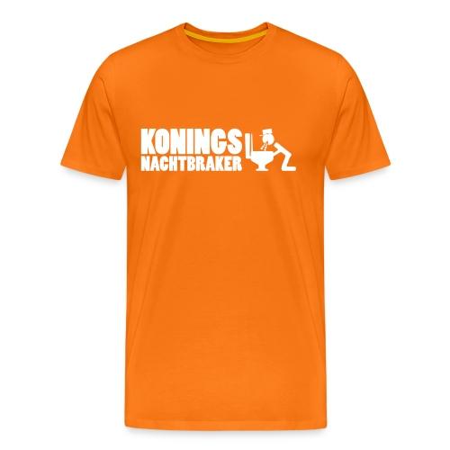 Grappig shirt Koningsnacht - braker - Mannen Premium T-shirt