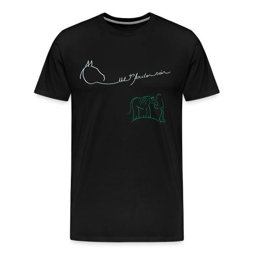 MPS Logoschriftzug & Walking Together - Double Reflect Colour +3XL Women Shirt - (Frontprint: Reflect + Green / Backprint: Reflect) - Männer Premium T-Shirt