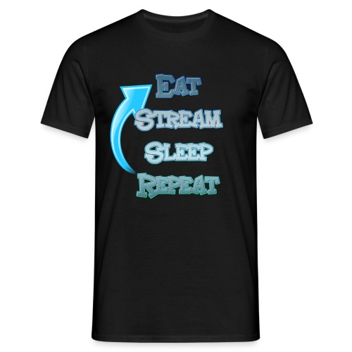 Eat Stream Sleep Repeat - Mannen - Mannen T-shirt