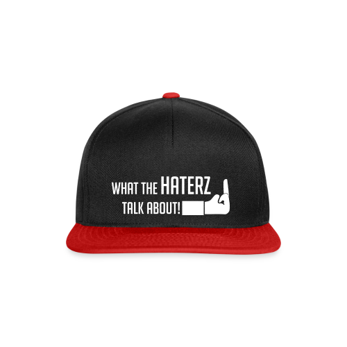 Snapback Cap schwarz-rot what the haterz talb about  - Snapback Cap