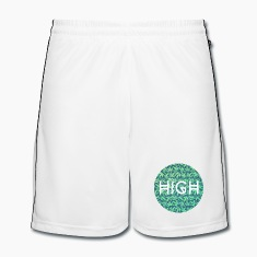HIGH / cannabis Hipster Typo - Pattern Design  Pantaloni & Shorts
