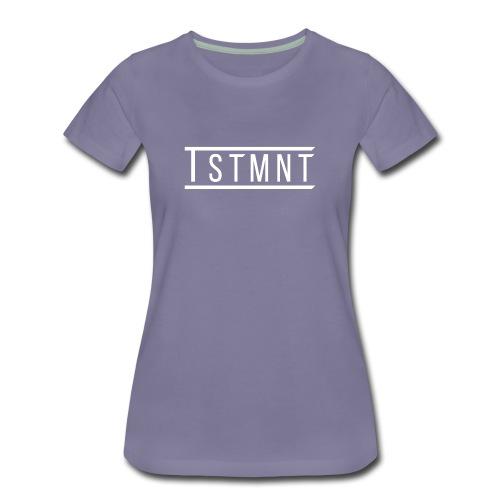 TSTMNT Women's Premium T-Shirt (White Logo) - Women's Premium T-Shirt