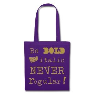 bold, italic, not regular - Tas van stof