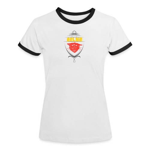 België Designer Shirt - Frauen Kontrast-T-Shirt