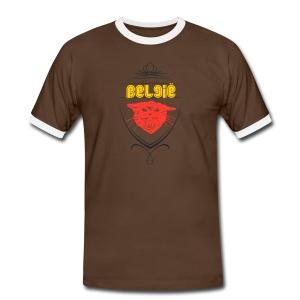 België Designer Shirt - Männer Kontrast-T-Shirt