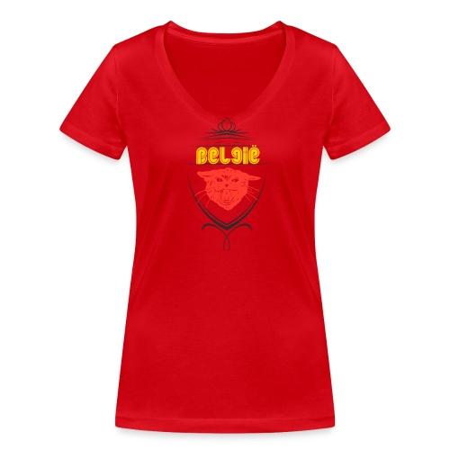 België Designer Shirt - Frauen Bio-T-Shirt mit V-Ausschnitt von Stanley & Stella