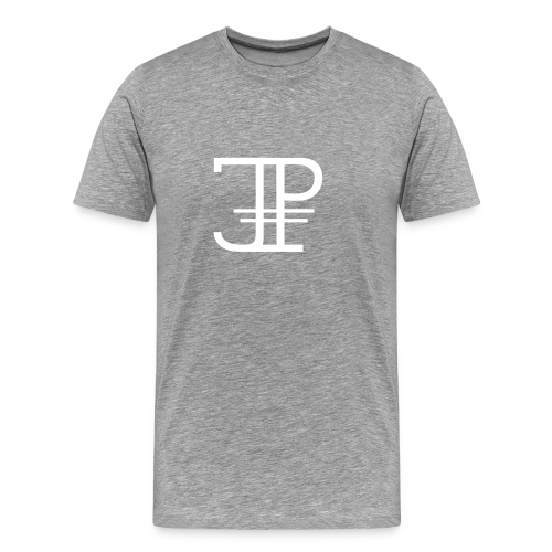 Jonas Platin Männer-Shirt (Grau/Weiß) - Männer Premium T-Shirt