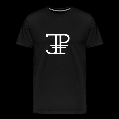 Jonas Platin Männer-Shirt (Schwarz/Weiß) - Männer Premium T-Shirt