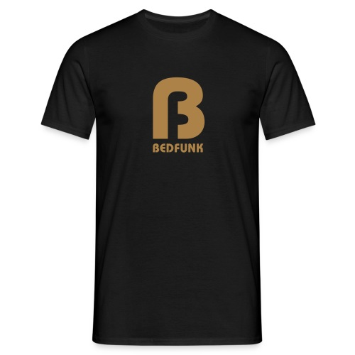 Men's T-Shirt Black with Gold Bedfunk Logo - Men's T-Shirt