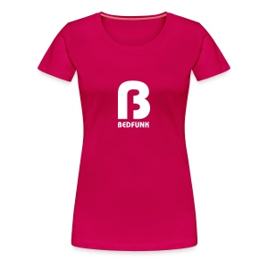 Women's Premium T-Shirt Red with White Bedfunk Logo - Women's Premium T-Shirt