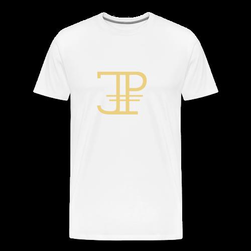 Jonas Platin Männer-Shirt (Weiß/Gold) - Männer Premium T-Shirt