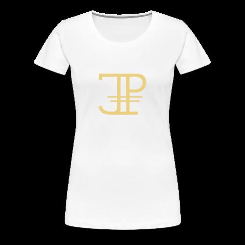 Jonas Platin Frauen-Shirt (Weiß/Gold) - Frauen Premium T-Shirt