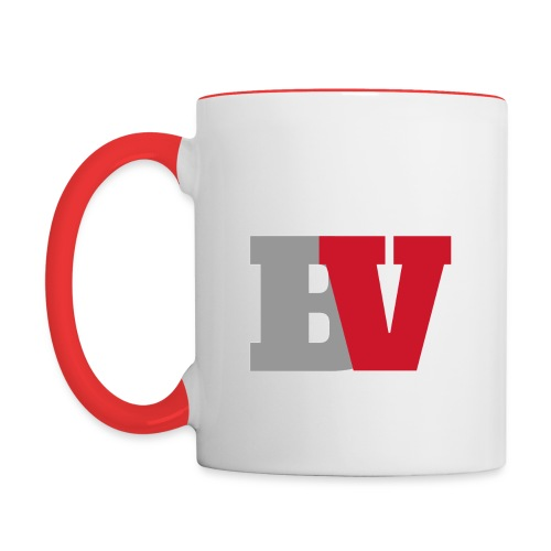 Mug BV blanc & rouge - Mug contrasté