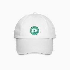 HIGH / cannabis Hipster Typo - Pattern Design  Caps & Hats