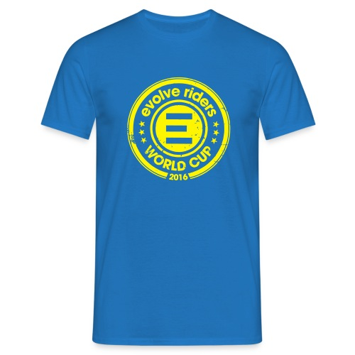 Deep blue tee-shirt man logo - T-shirt Homme