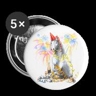 Buttons & Anstecker ~ Buttons klein 25 mm ~ 5 Buttons - Partyhengst