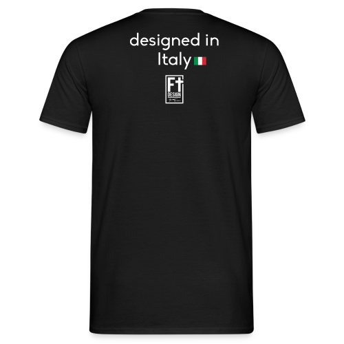 FT Design Stamp Logo Classic T-Shirt / Black  - Men's T-Shirt
