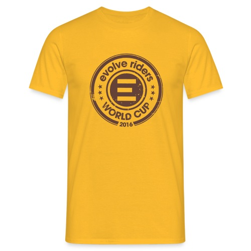 Yellow tee-shirt man logo - T-shirt Homme