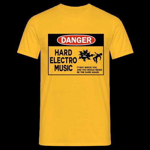 Danger Hard Electro Classic T-Shirt / Strong Yellow  - Men's T-Shirt