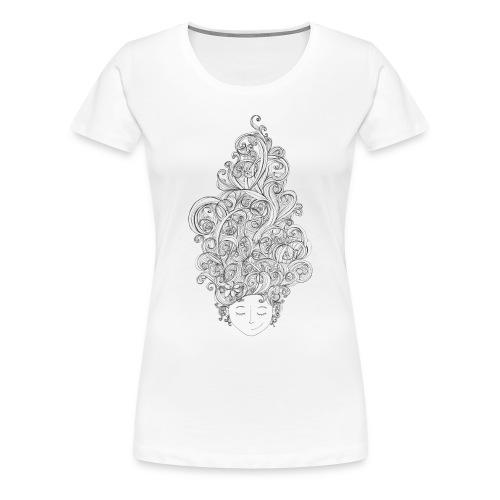 Head full of doodles - Premium-T-shirt dam