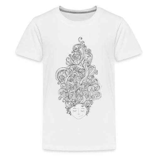 Head full of doodles - Premium-T-shirt tonåring