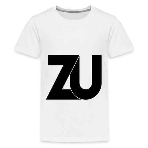T-Shirt - Zwart Logo (Tieners) - Teenager Premium T-shirt