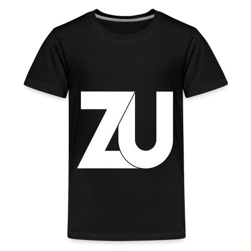 T-Shirt - Wit Logo (Tieners) - Teenager Premium T-shirt