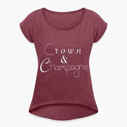 Crown & Champagne Shirt - T-shirt à manches retroussées Femme