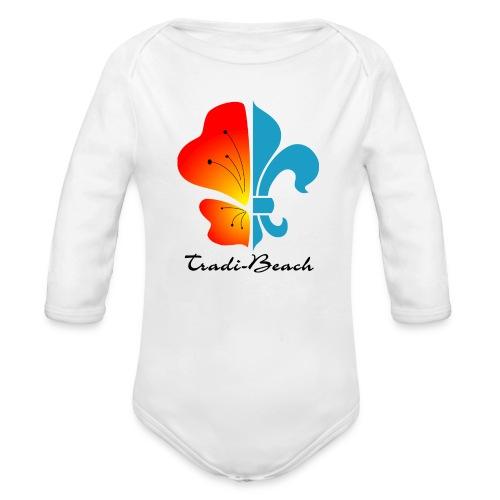 Body manches longues blanc logo couleur - Body bébé bio manches longues